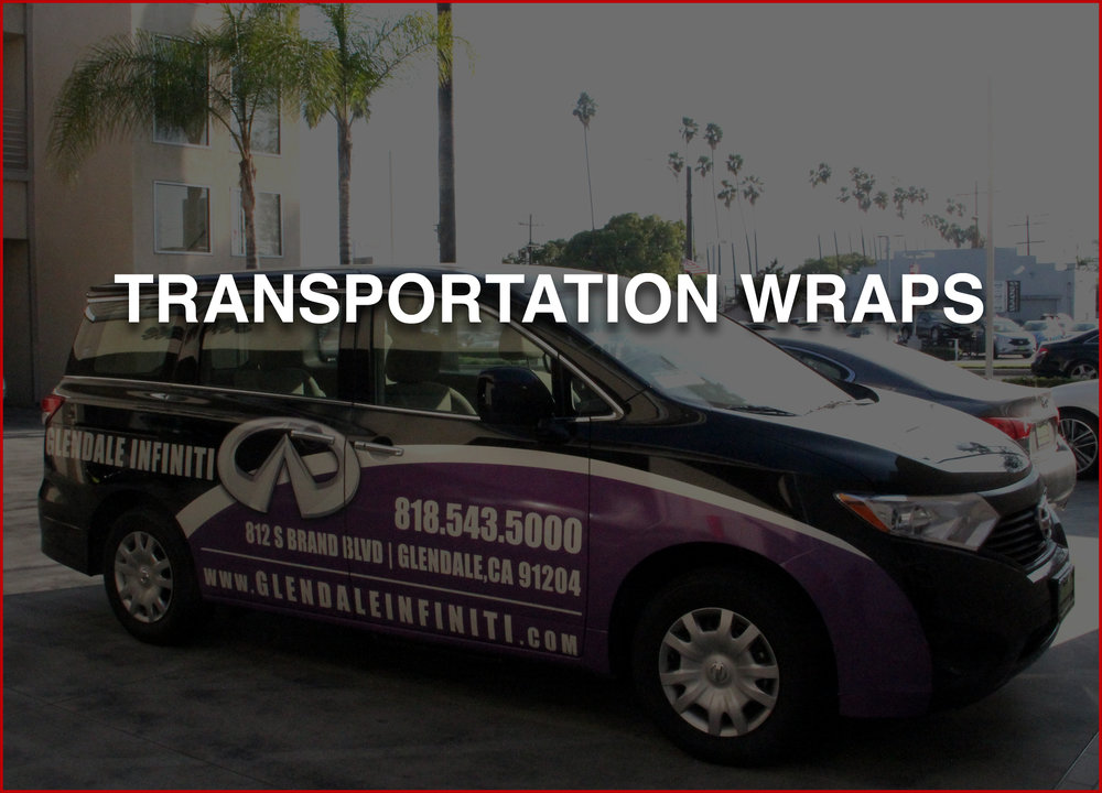 TRANSPORTATION WRAPS   From the body's of cars, SUV's, passenger or luxury vans, to semi trucks, trains and tour buses we can design it all.