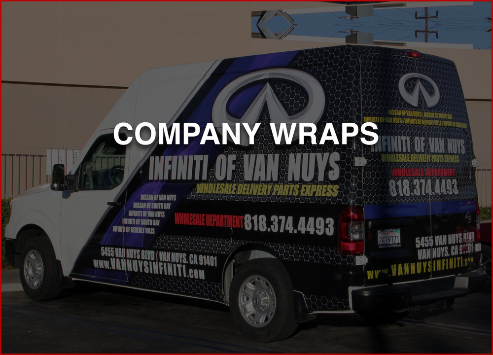 COMAPANY WRAPS   Showcase your business on your vehicle.  Perfect for all types of business from, mom-n-pops to corporate.