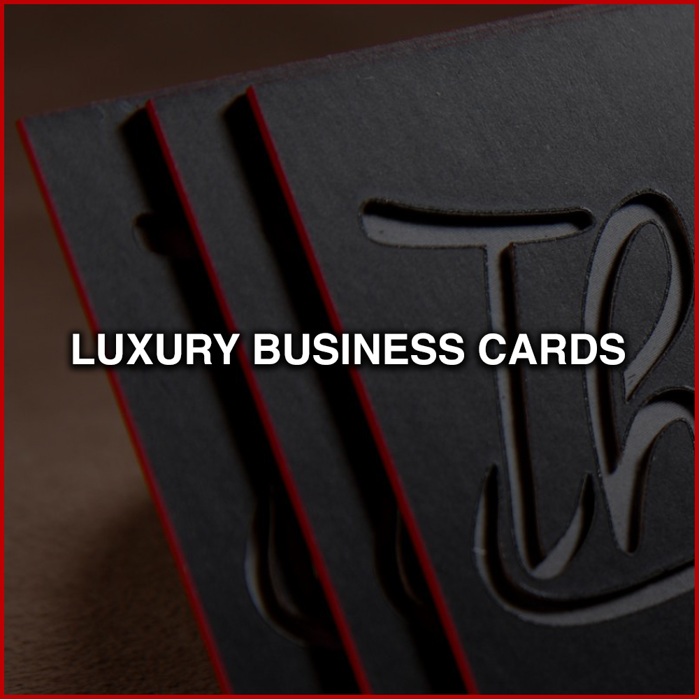 LUXURY BUSINESS CARDS   Metal, carbon fiber, plastic, 64pt, colored edges, laser cutting, embossing, satin finishes, etc.