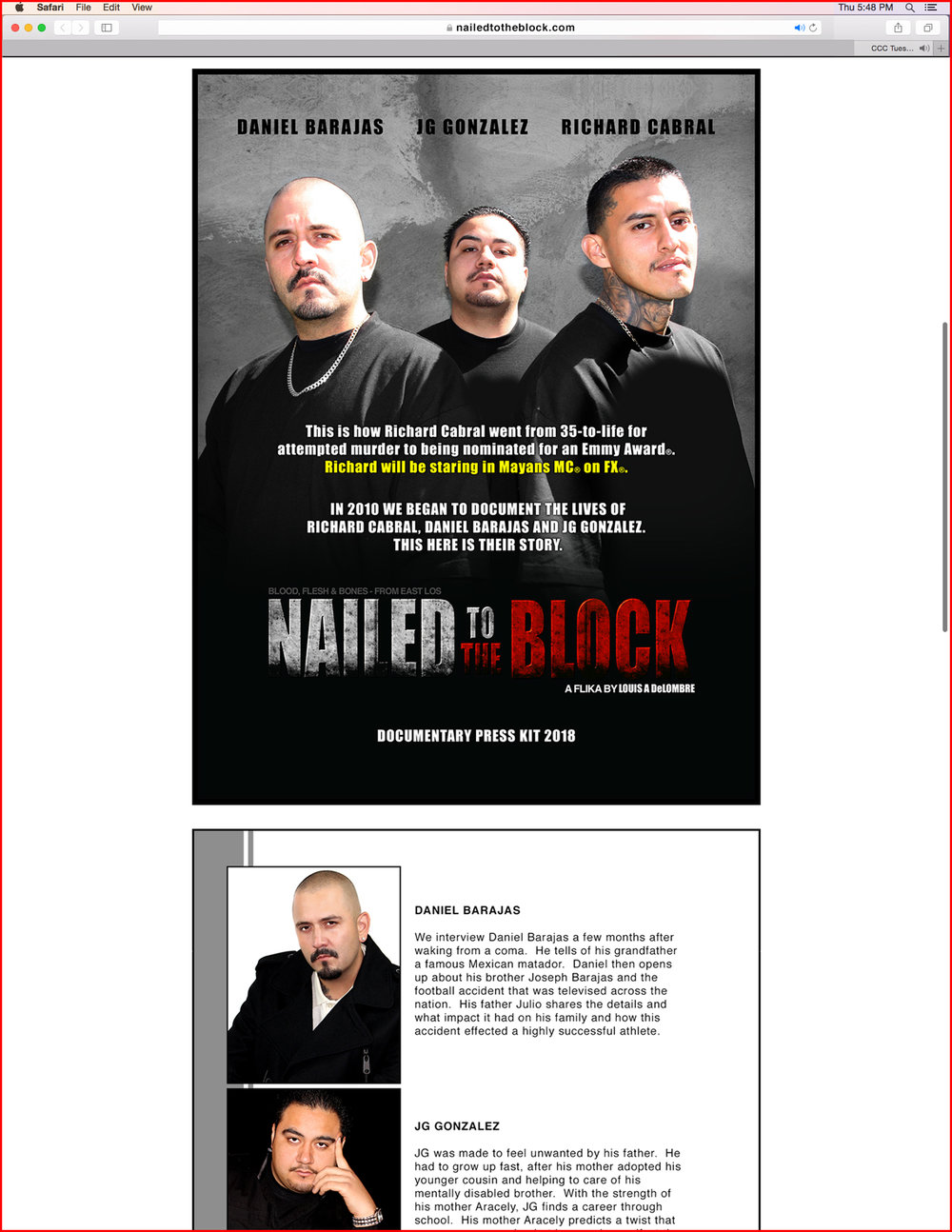 Nailed To The Block Online Press Kit