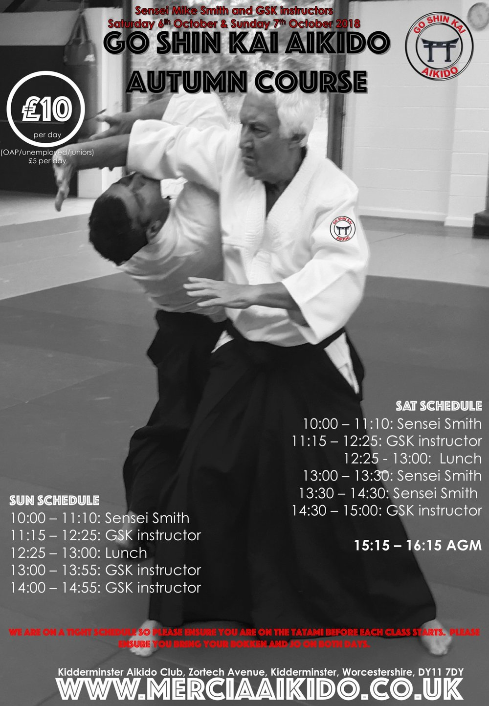 Go Shin Kai Course 6th & 7th Oct 2018