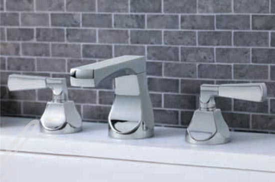 Polished nickel lavatory faucet