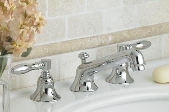 Polished chrome Roman tub faucet