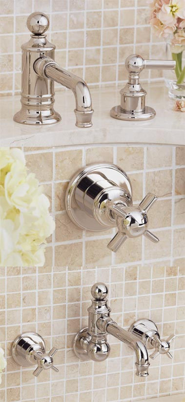 Lavatory Faucet with Handle 158  Handle 157  Wall Vessel Set with Handle 157