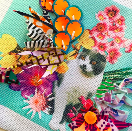Cat CollageCross-Stitch - Have you ever completed a cross stitch? Satisfying, time consuming, beautiful and enduring. Cross-stitch is the oldest form of embroidery and can be found all over the world. Many folk museums show examples of clothing decorated with cross-stitch, especially from continental Europe, Asia, and Eastern and Central Europe.Using one of Becky's Cat Collage Cross Stitch designs you will be taught the basics of cross stitch. Throughout the session you will be encouraged to explore other types of embroidery that can enhance the design. There will be less emphasis on creating a uniform cross stitch, but more on how you can enhance the design in your own unique way using a variety of materials, threads and embellishments. It's your time to play, be creative and have fun while enjoying the mindful art of embroidery.Cost: 3 hours £45