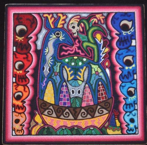 Huichol Inspired Yarn Painting -