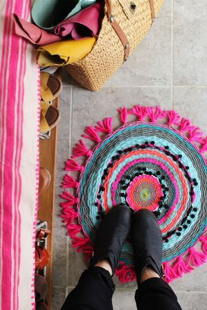 Simple Circular Weave for your Walls or Floors - Weaving is acknowledged as one of the oldest surviving crafts in the world. The tradition of weaving traces back to Neolithic times – approximately 12,000 years ago.Using a circular frame and a variety of yarns, ribbons and fabric scraps you will combine colours and textures to make a weave for your floor or wall. Depending on how quick you work you'll leave the workshop with a unique interior decoration for you or that special someone. It will be roughly the size of a doormat, or small coffee table.You can bring your own fabrics, yarns, flosses, and threads to work with, and combine with the yarns and fibres we have available, or you can just turn up - We have a vast stock of materials and yarns that you can use during the workshop. You do not need any weave experience, just a desire to learn a new technique, or work in a new way.Cost: 4 hours - £60