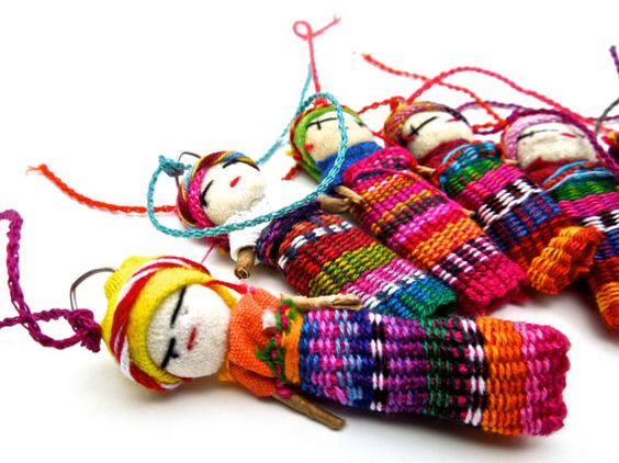 Worry Not Worry Doll - Worry dolls are mostly hand-made. In Guatemala, they are made of wire, wool and colourful textile leftovers. The dolls are then dressed in traditional Mayan style. The size of the doll can vary between 1⁄2 inch and 2.0 inches. In western cultures, the dolls are mostly made of pressed paper, adhesive tape, paper and colorful wool.Exploring the basics of weave, yarn wrapping and doll construction you will create your own unique worry doll. This worry doll can be made into a fashion accessory such as necklace or earring; or given as a gift for someone going through a key transition.Cost: 4 hours £60