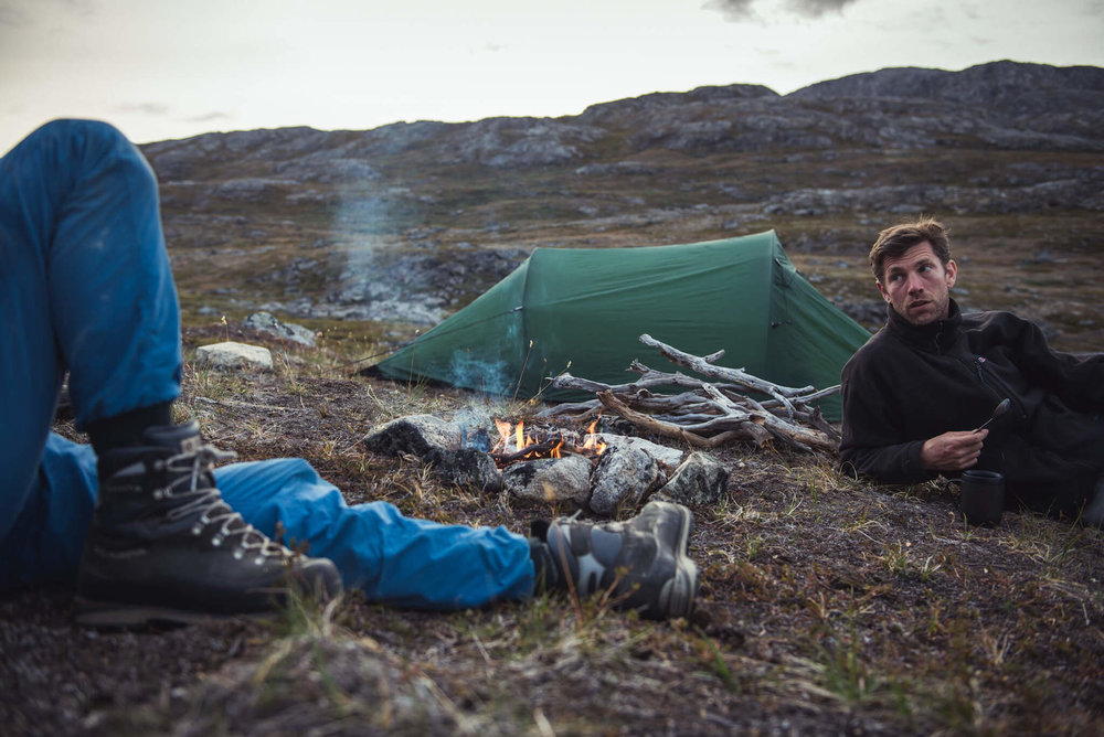 Camp,~100km east of Nuuk, 2016.