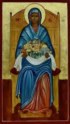Den Hellige Jomfru Maria, Palæstinas Dronning, er Ridderordenens skytshelgen