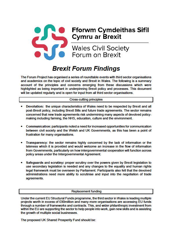 Brexit Forum Findings -