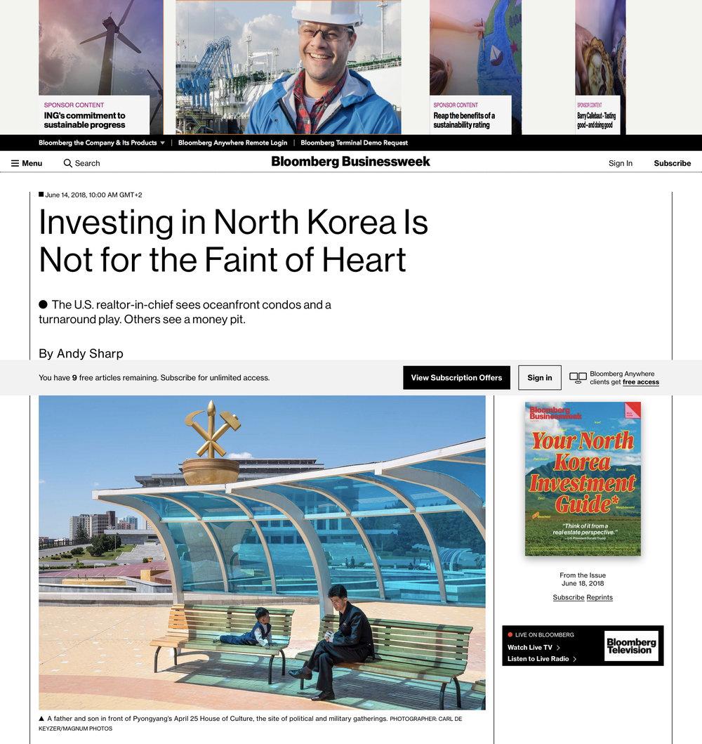 Bloomberg DPRK