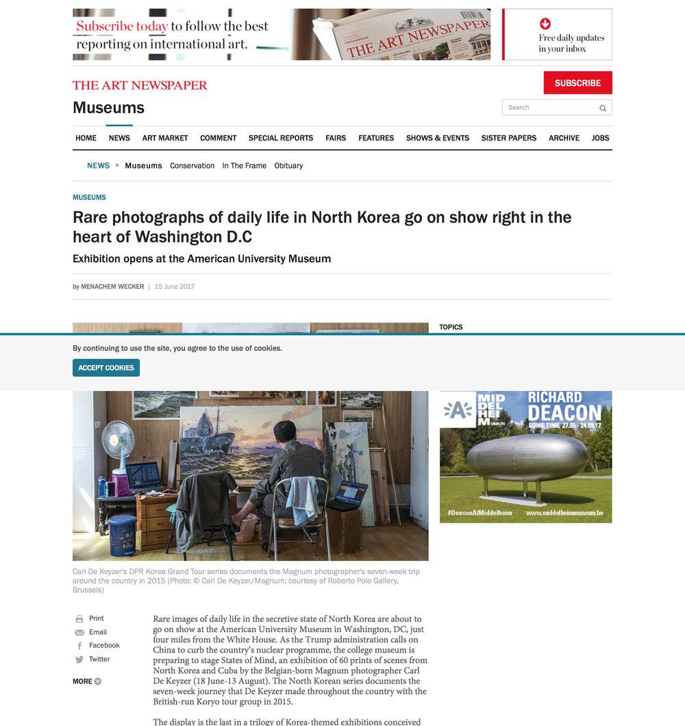 The Art Newspaper  DPRK