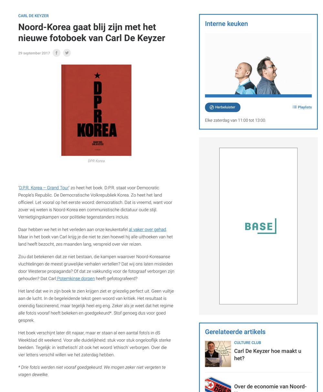 Interview - listen here (Dutch) -