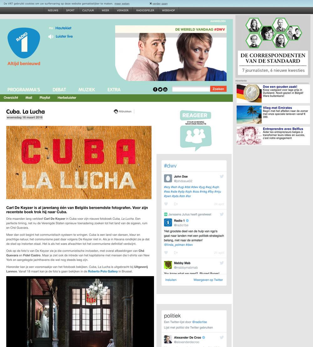 Cuba (Radio 1 VRT)