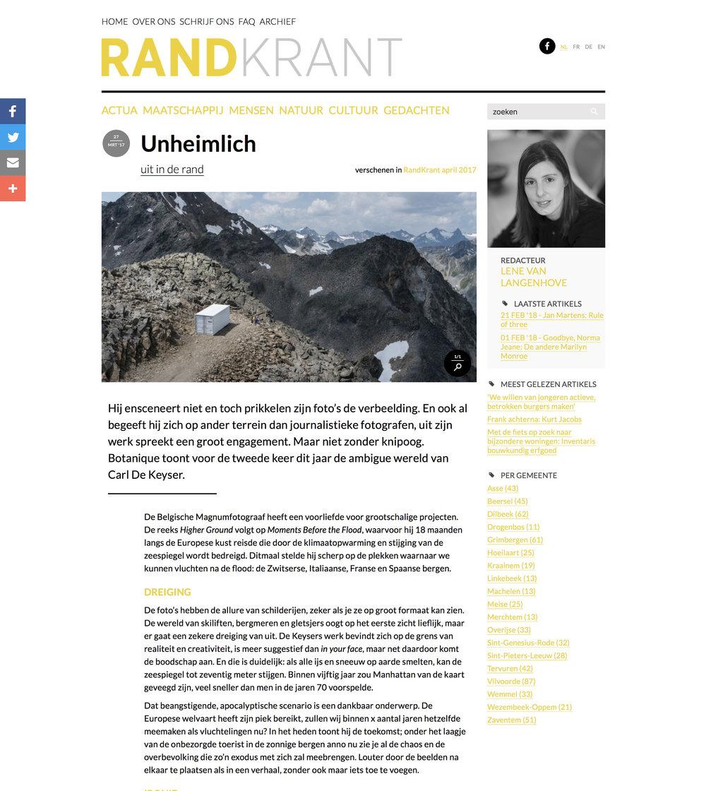 Randkrant (Higher Ground)