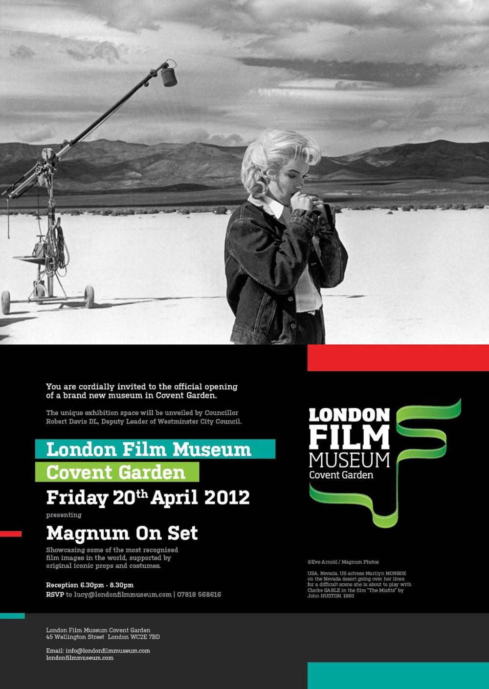 London film museum (Magnum on set)