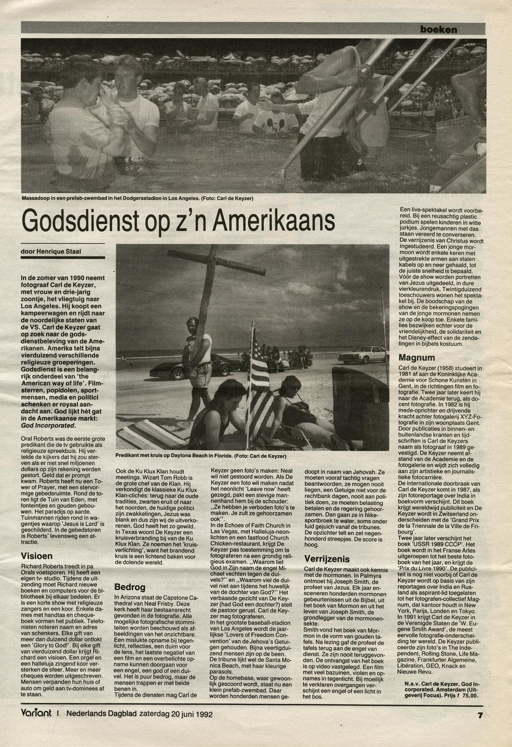 Nederlands Dagblad (God, Inc.)
