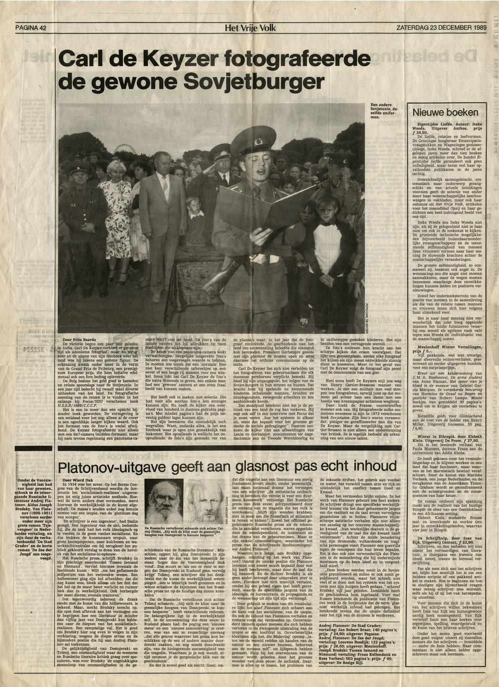 Het Vrije Volk (Homo Sovieticus)