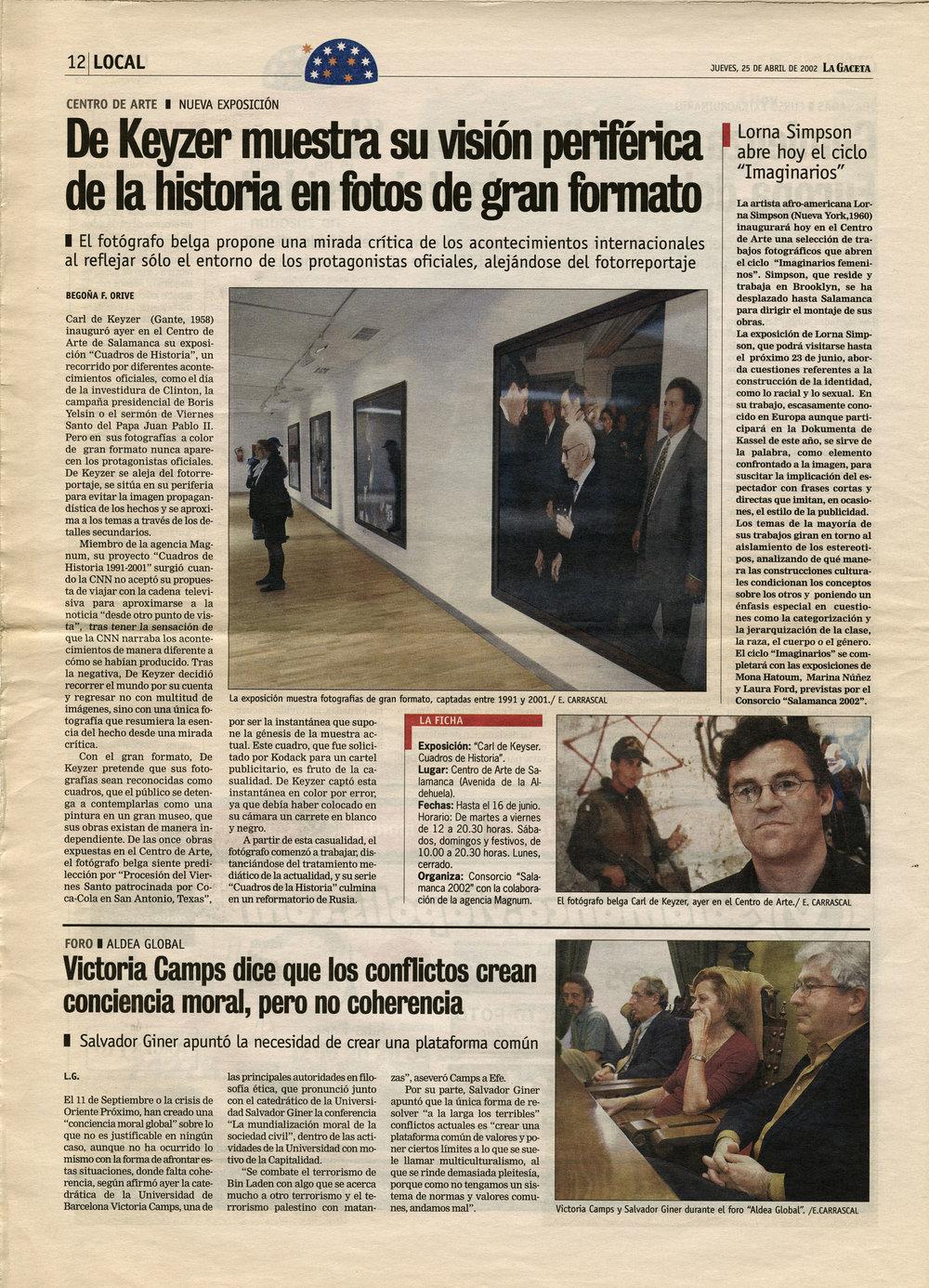 La Gaceta (Tableaux d'Histoire)