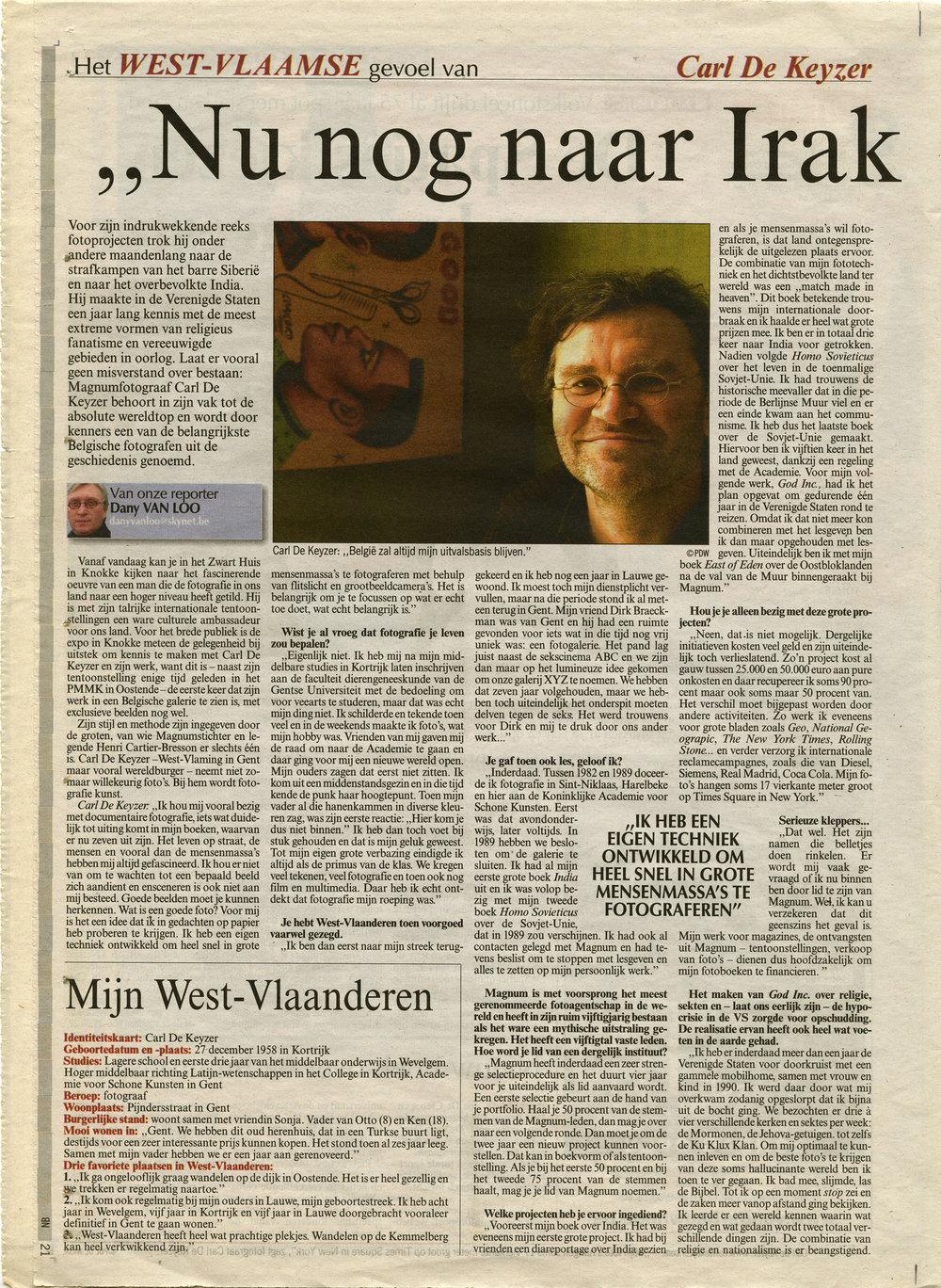 Het Nieuwsblad (Zwart Huis retro)