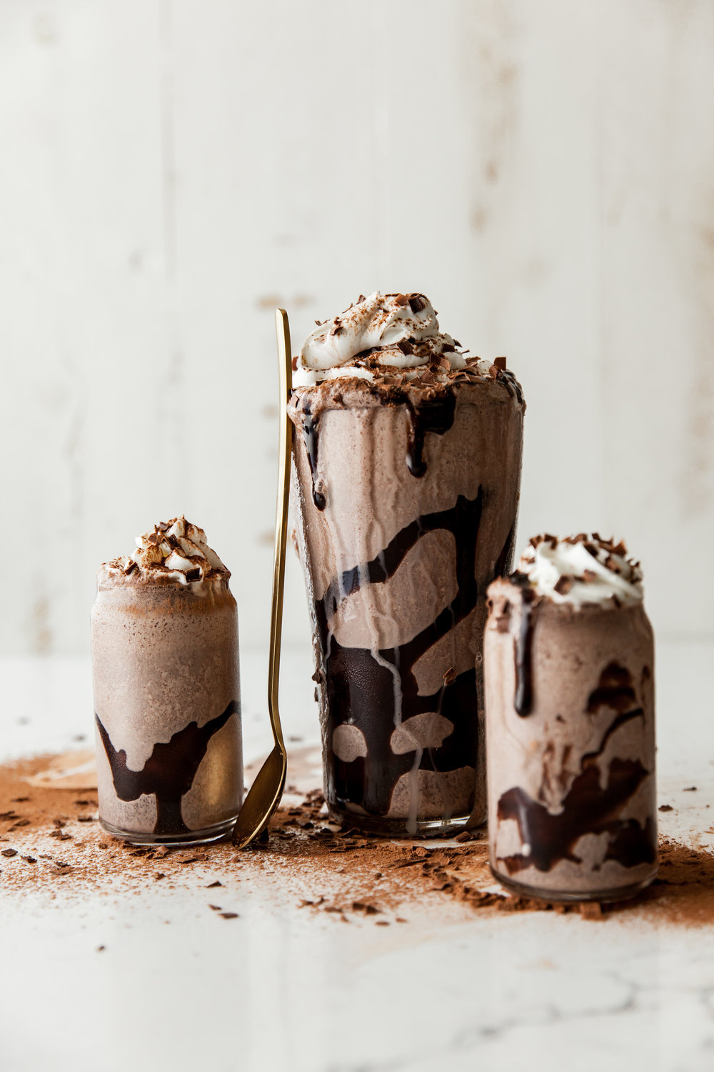 SWEET & SALTY SHAKE  4 parts vanilla or chocolate ice cream; 2 parts milk; 1 part Dorda Sea Salt Caramel  Method: Blend ingredients together. Top with chocolate syrup, whipped cream and garnish.