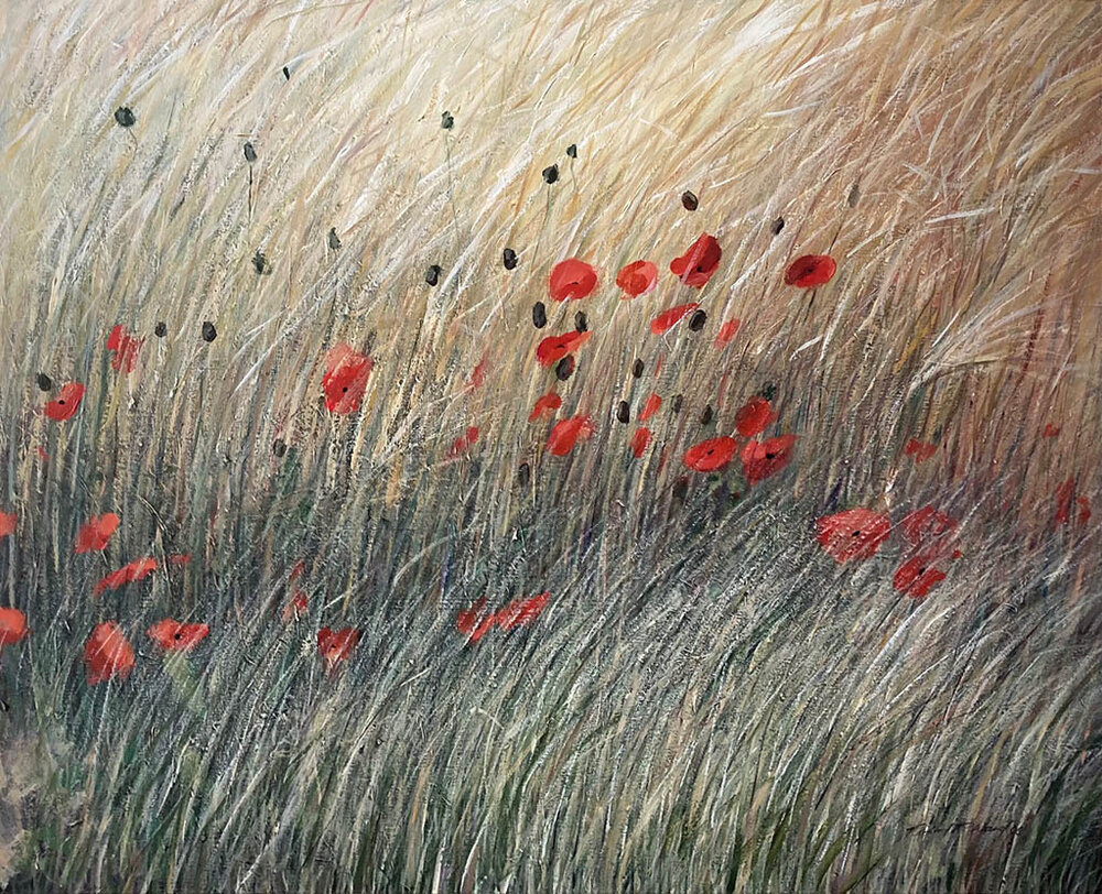 Poppies and Wheat ll