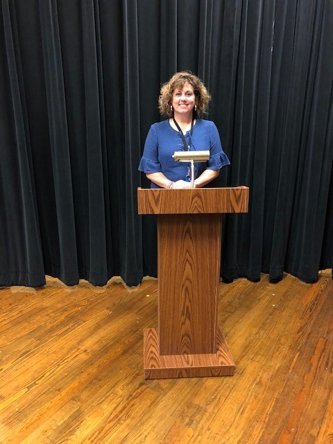Podium with mic holder - Mrs. Maxwell.jpg