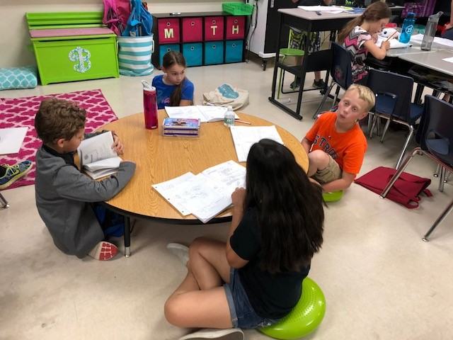 Round table and cushion seats in Mrs. Bergin's classroom.jpg
