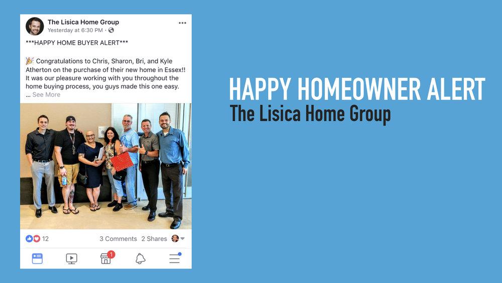After Closing - Happy Homeowner Alert Post