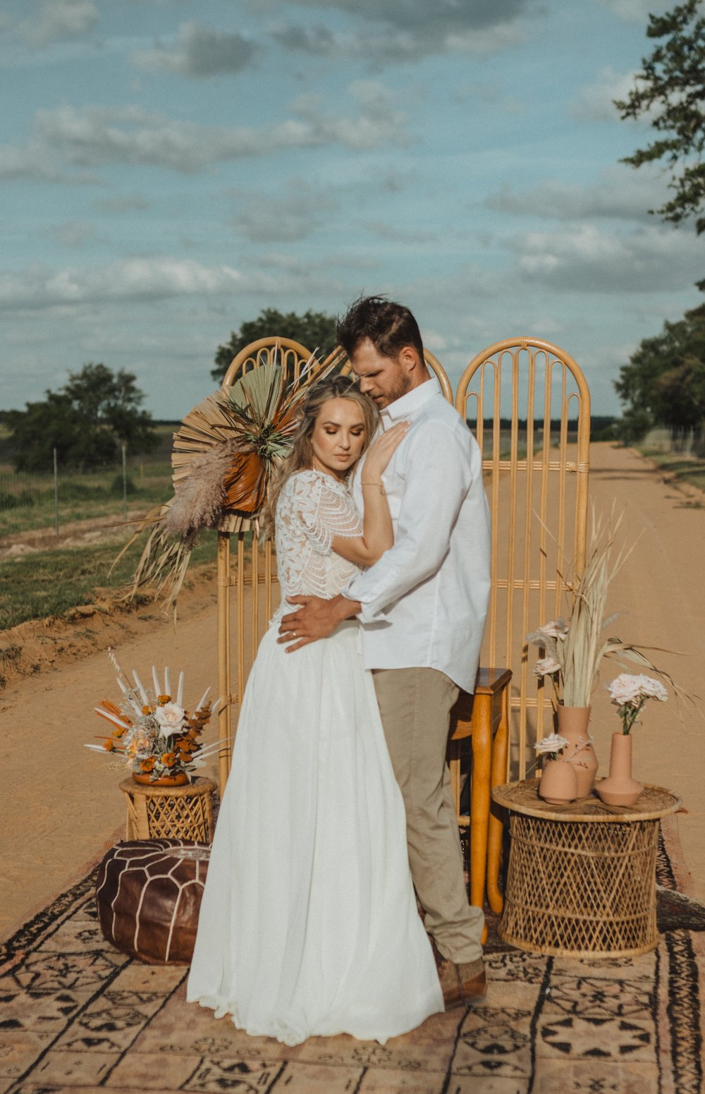 Boho+Elopement+Gypsy+Bride+and+Groom