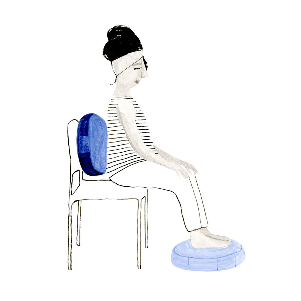 Seated in chair