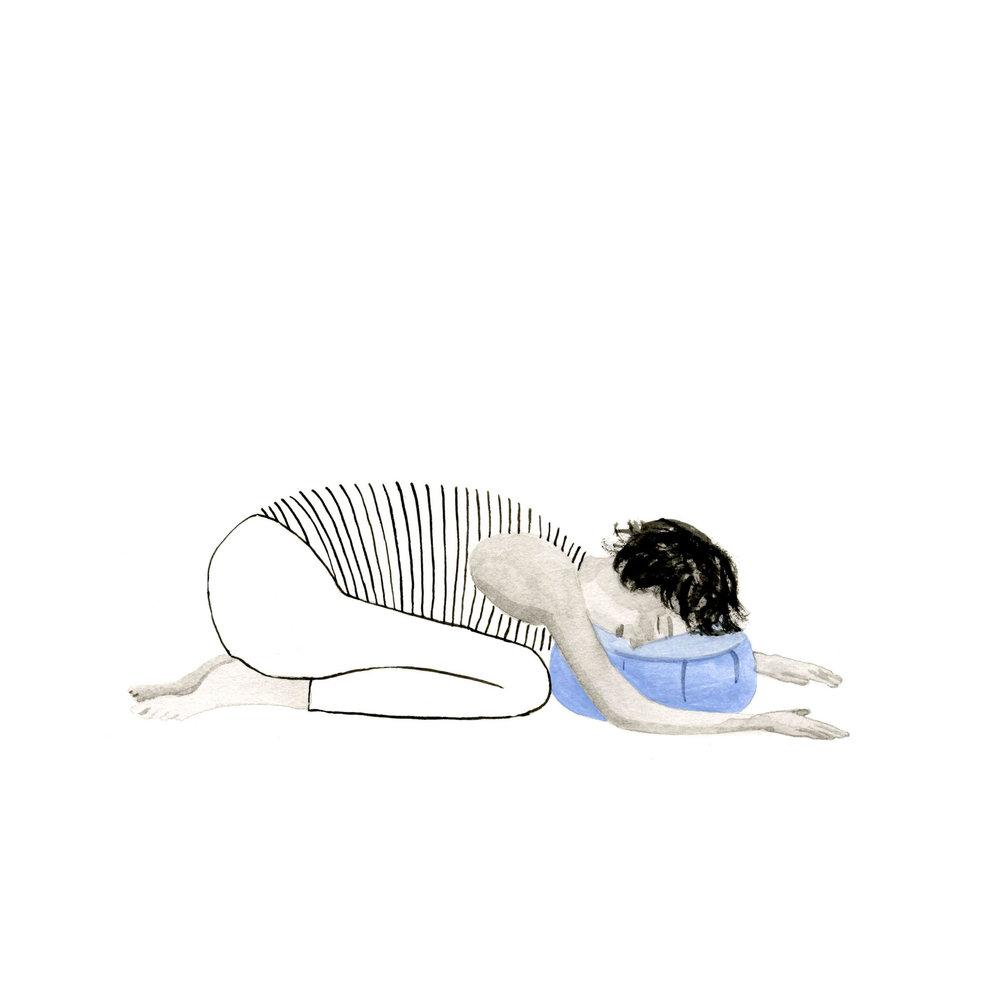 Restorative child's pose
