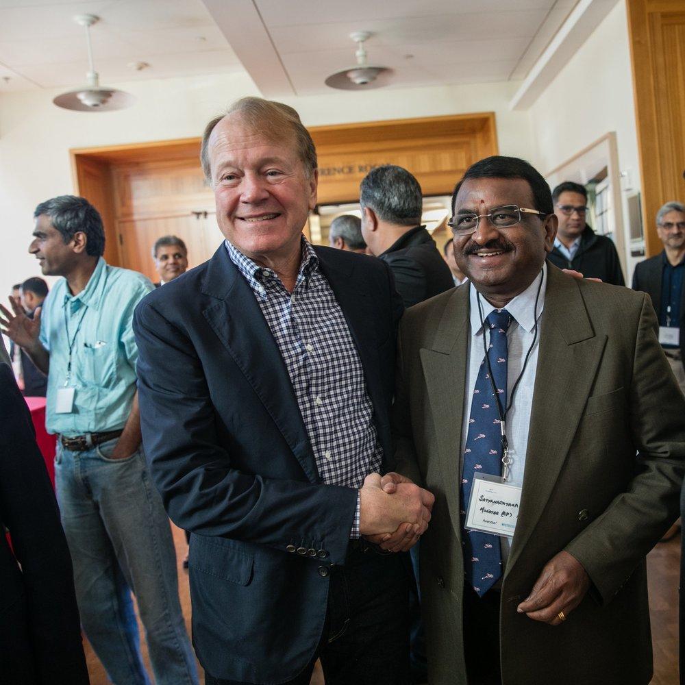 John Chambers and AP Minister Pithani Satyanarayana