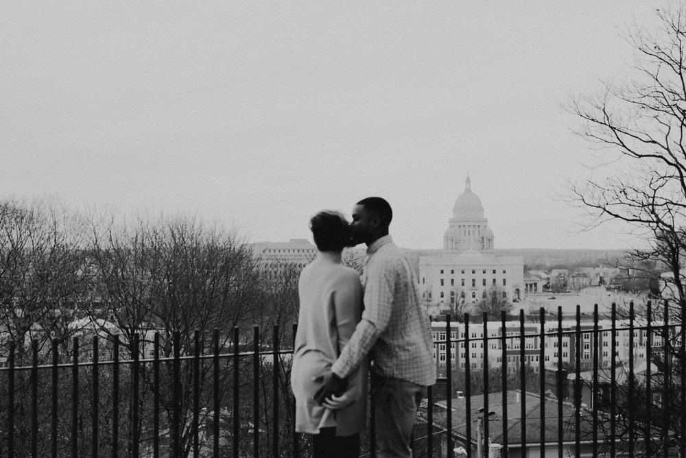 Downtown providence rhode island engagement