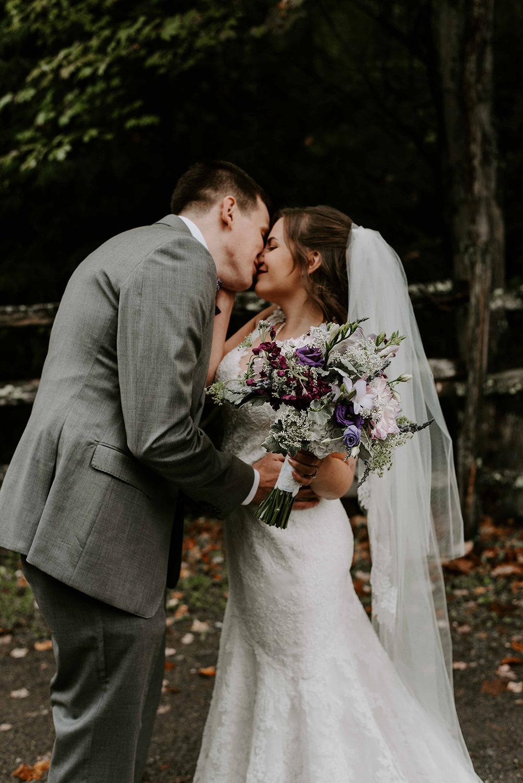 New Hampshire wedding photographer for a boho and intimate New Hampshire Wedding. Fall New Hampshire wedding photos at Stonewall Farm, Keene, NH