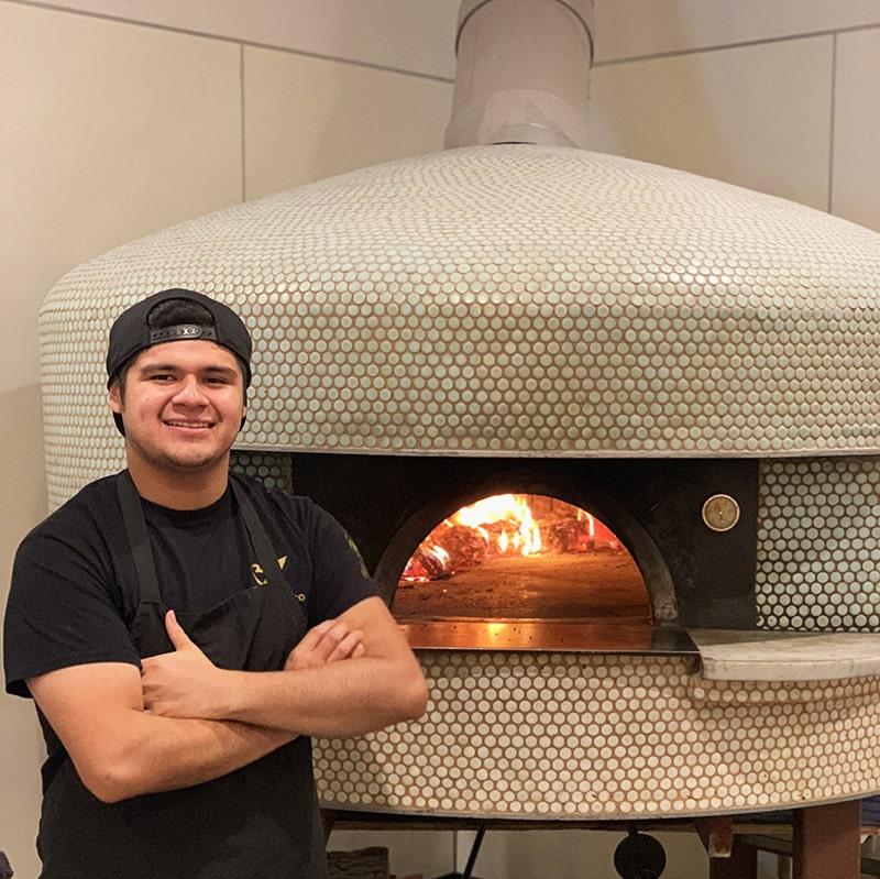 Pangea Kitchen's certified Neapolitan pizzaiolo, Eric Luna