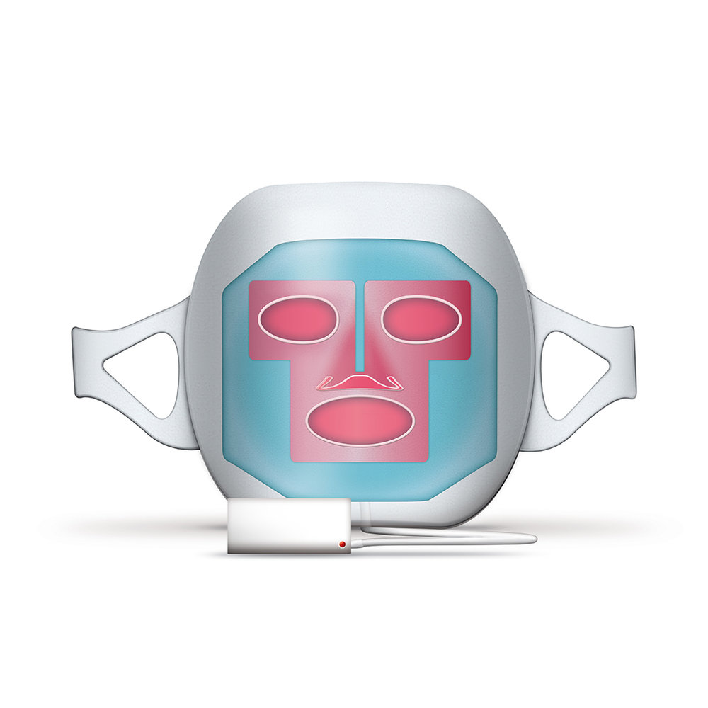 Lay of Light LED E-Mask - The Red LED Mask is a revolutionary, cutting edge beauty device. Medical tests have confirmed the effects of LED (light emitting diodes) in skincare. By exposing the skin to specific wavelengths,the aging process is reduced. The skin is stimulated and regenerated bringing back it's vitality.[Function]Enhances collagen production / Tightens pores / Strengthens the skin's metabolism