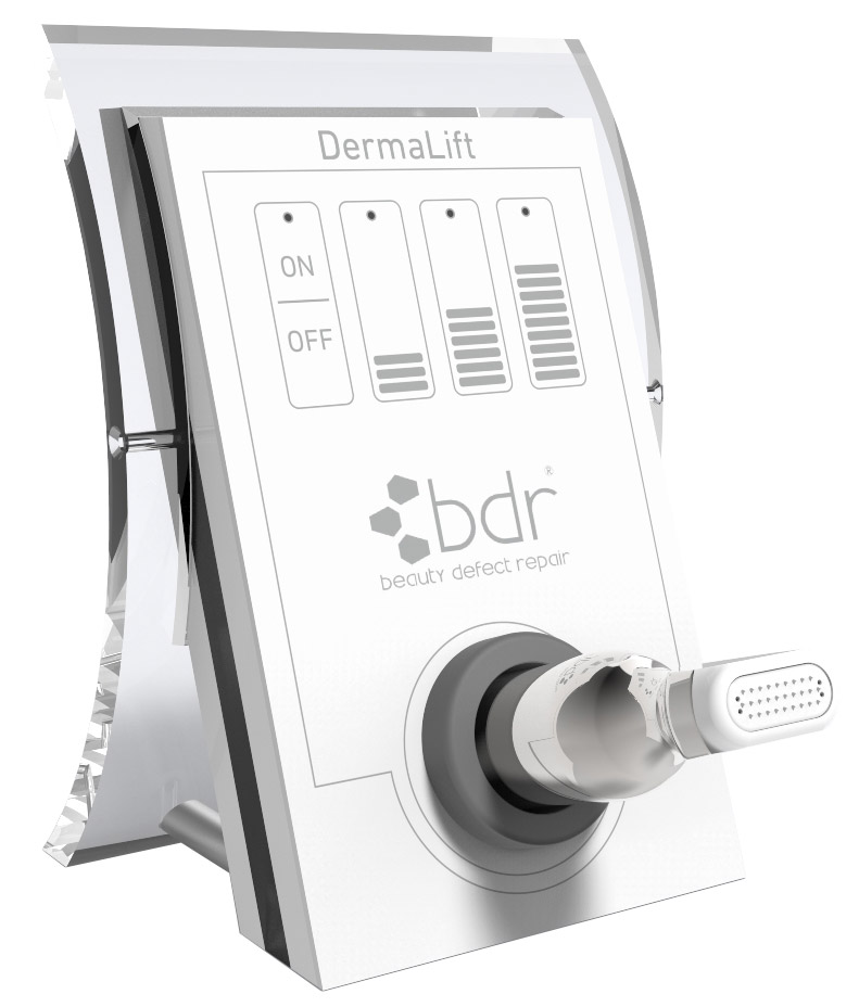 Derma Lift - Microstimulation (Stimulation XL) noninvasive microneedling reduces fines lines, wrinkles and acne scars.