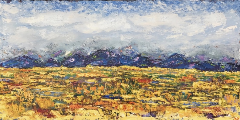 mountainscape | oil on canvas | 4 x 2 feet | SOLD