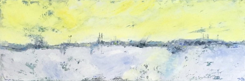 Harbor | oil on canvas | 12 x 36 inches | SOLD