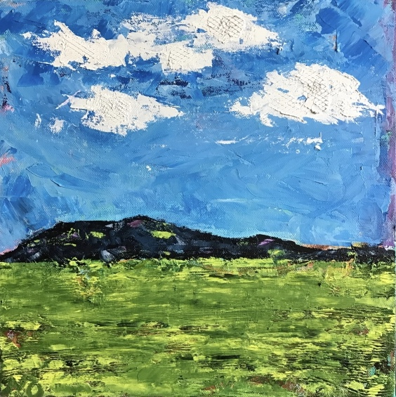 Green Valley | oil on canvas | 12 x 12 inches  | SOLD