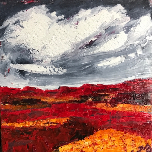 Red Rocks | oil on canvas | 12 x 12 inches | SOLD