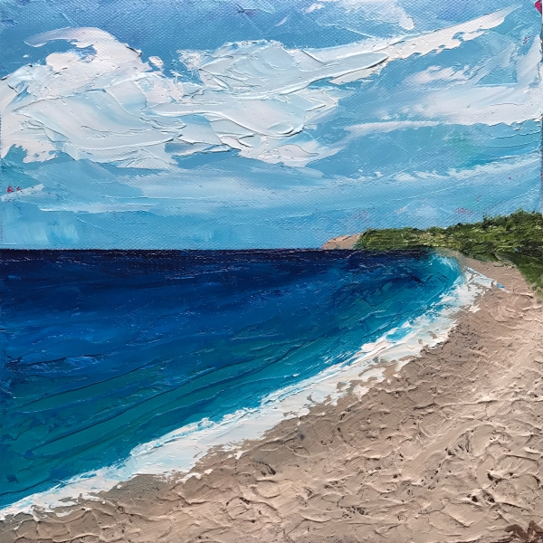 Empire Beach | oil on canvas | 10 x 10 inches | SOLD
