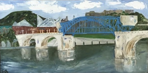 Market Street Bridge | oil on canvas | 12 x 24 inches | SOLD
