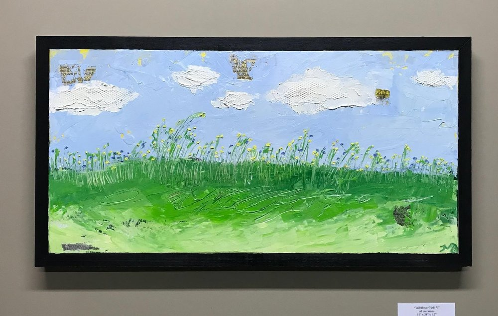 Wildflower Field V, 12x24, starting bid $250 -