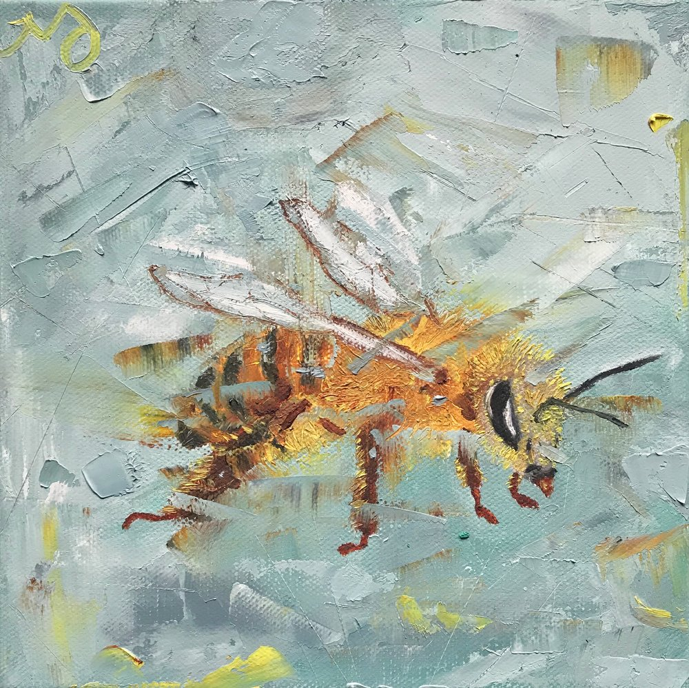 Honey Bee | 8 x 8 x 1.5 inches | oil on canvas | SOLD