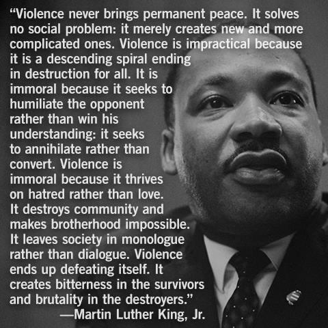 mlk-on-violence