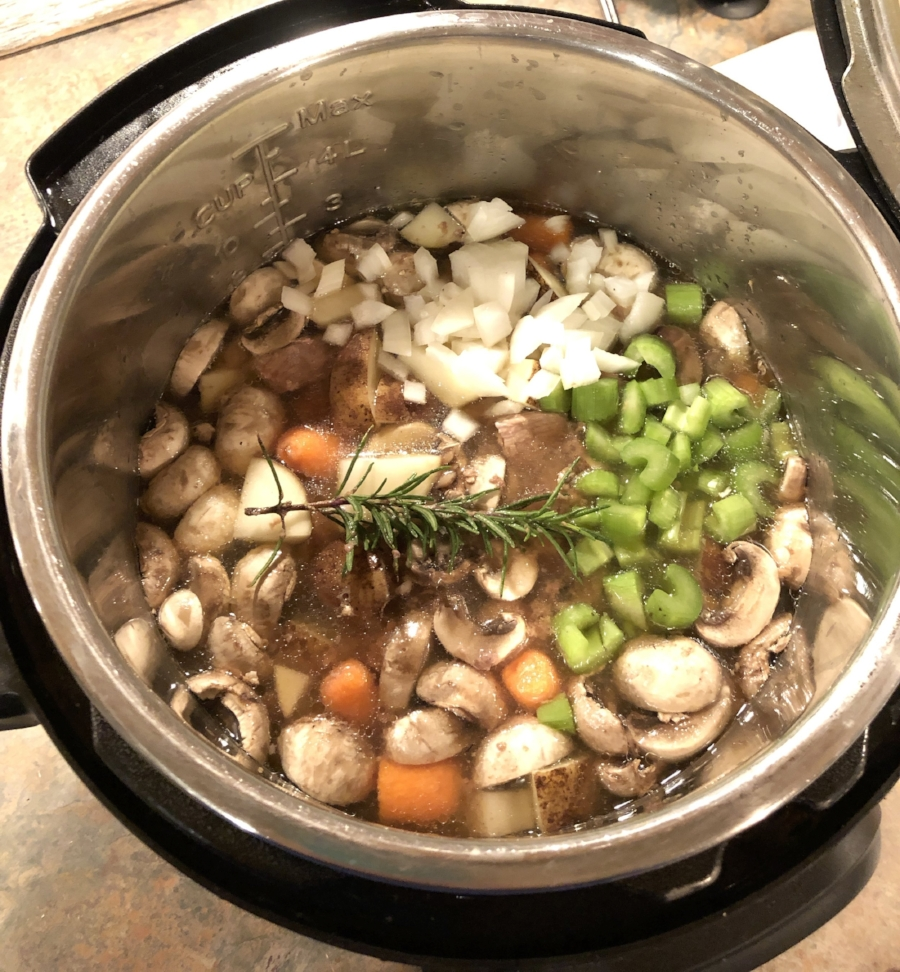 Instant Pot Rosemary Beef Stew