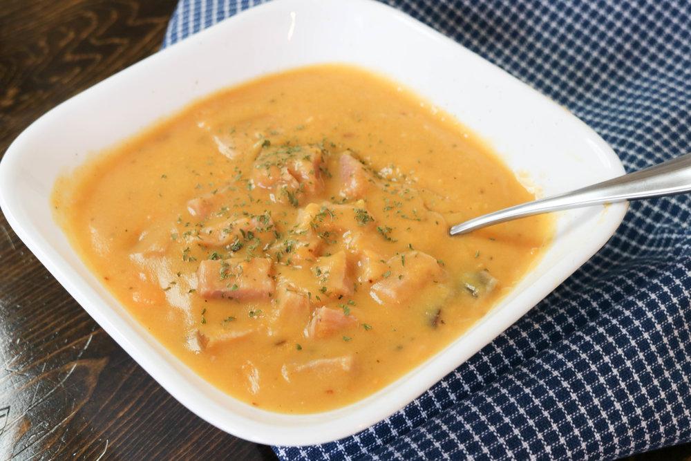 Sweet Potato and Ham Soup